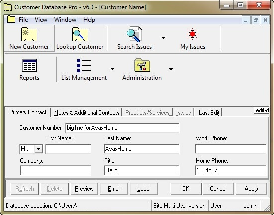 Customer Database Pro 6.0.126
